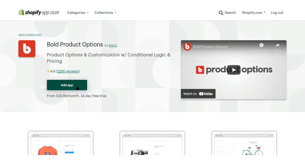 Bold Product Options Install in Shopify