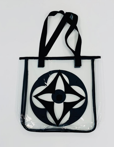 Chinatown Market - Flower PVC Tote - Clear / Black