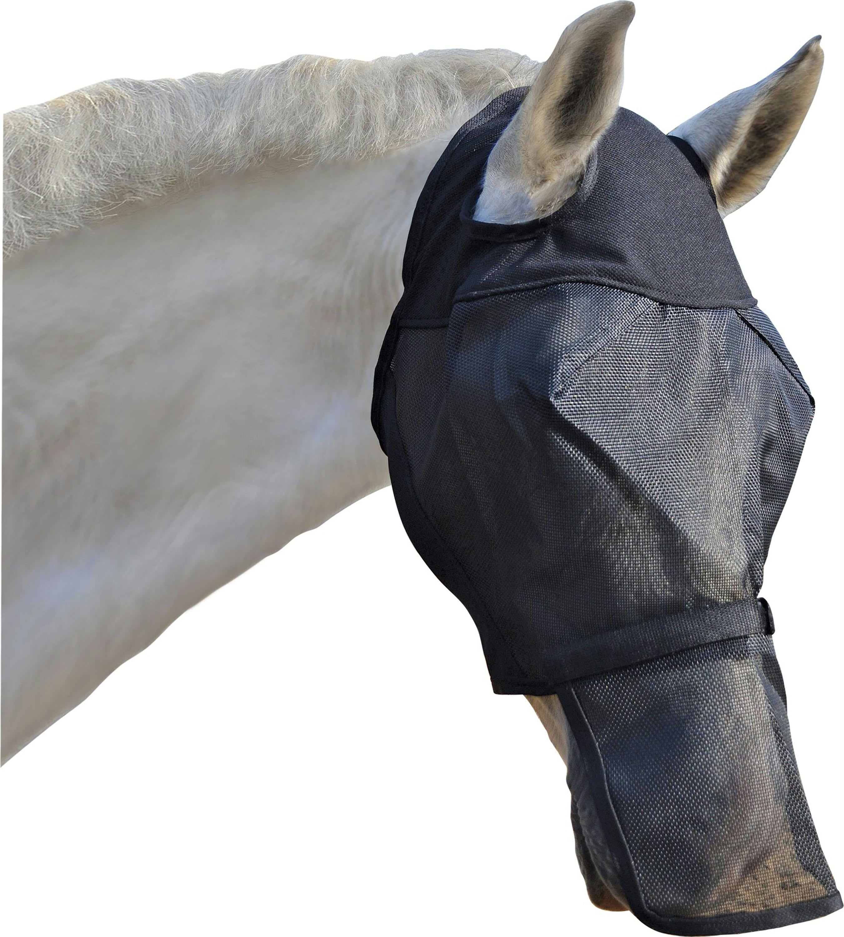 Fly Mask With Removable Nose