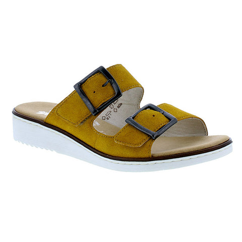 Rieker Slide On Sandal 63694-68 | Mustard