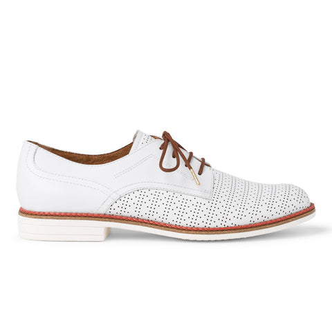 Tamaris Brogue 23200 | White/Cognac