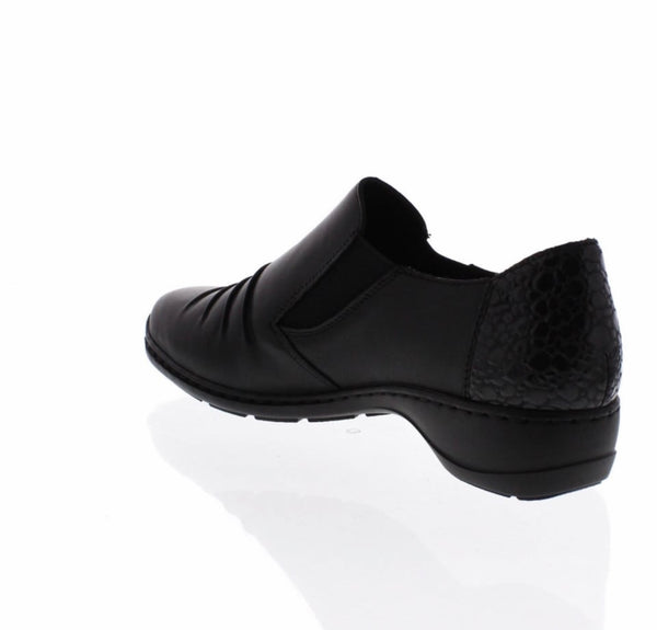 Rieker Black Slip on Shoes 58353