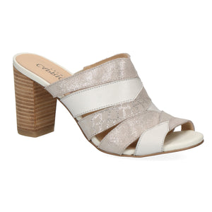 Caprice Premium White Multi Leather Sandal 27205