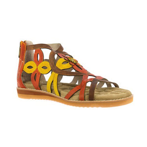 Laura Vita Feclicieo 07 Gladiator Sandal | Orange
