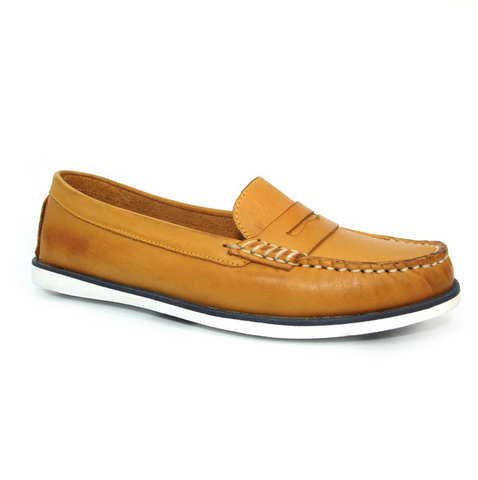 Lunar Manuela Leather Boat Shoe | Mustard