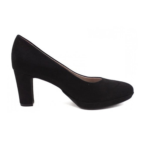 Tamaris Black Court Shoe 22420