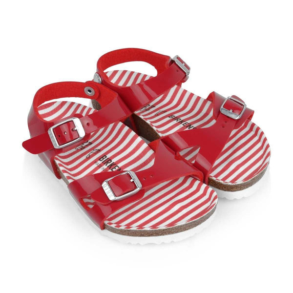 ONLINE EXCLUSIVE | Birkenstock Kids Rio | Nautical Stripes Red