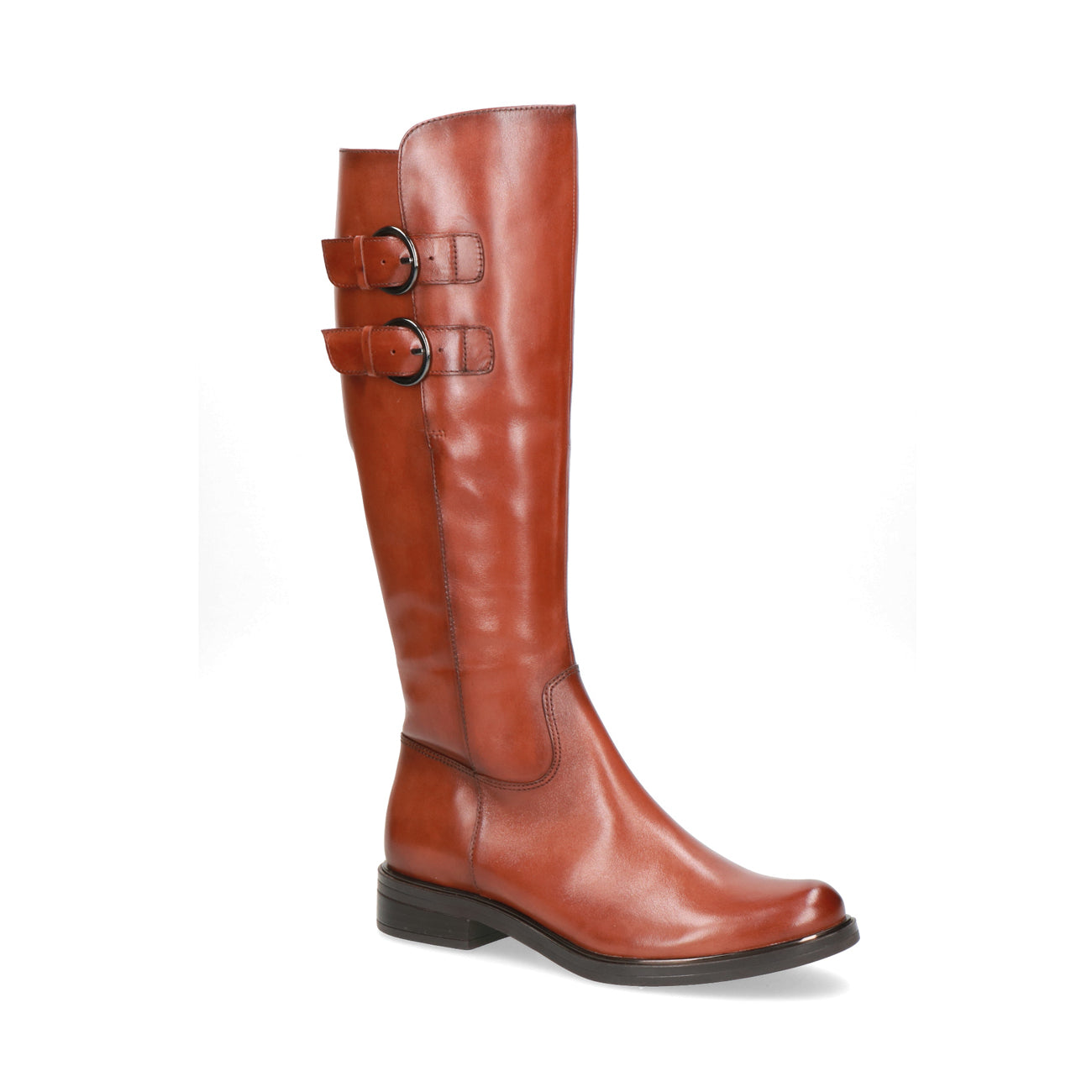 Caprice Long Buckle Boot | 25530 | Cognac