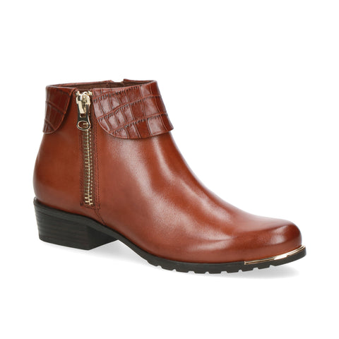 Caprice Ankle Boot | 25310 | Cognac Comb.