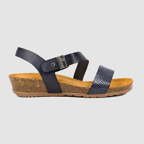 Yokono Capri 042 Wedge Sandal | Navy