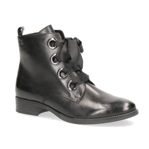 Caprice Lace Up Ankle Boot 25106 | Black