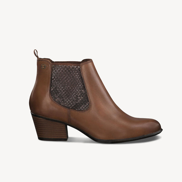Tamaris Heeled Chelsea Boot | 25701 | Muscat