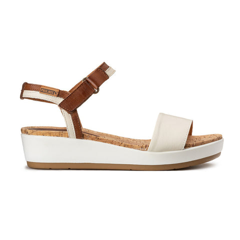 Pikolinos Wedge Sandal | Mykonos | Cream/Tan