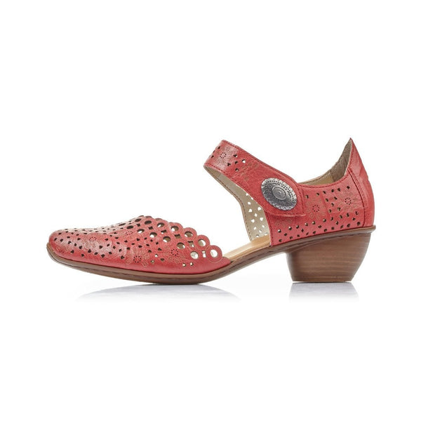 Rieker Heeled Sandals | 43753-33 | Red