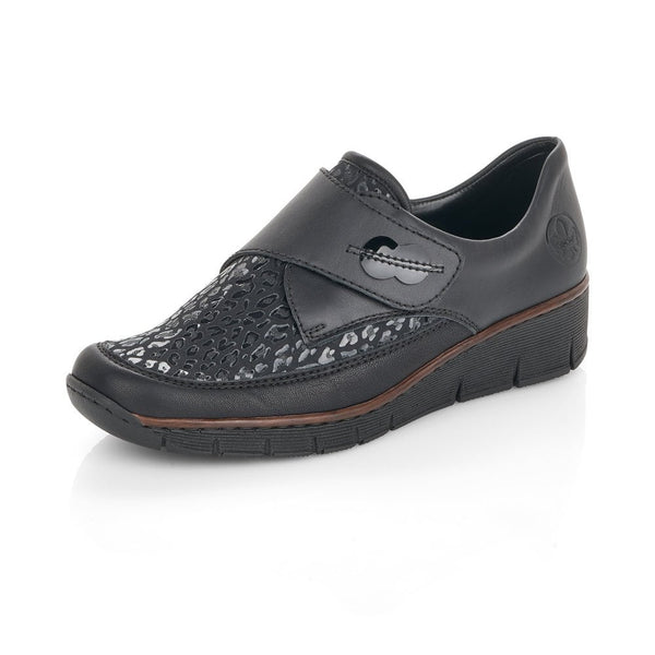 Rieker Slip On Shoes | 537C0-00 | Black