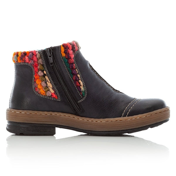 Rieker Ankle Boot | Z6784-14 | Blue Combination