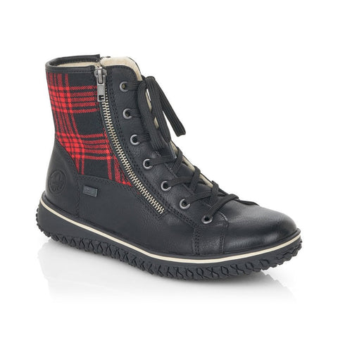 Rieker Hi-Top Trainer Boot | Z4210-00 | Black/Red