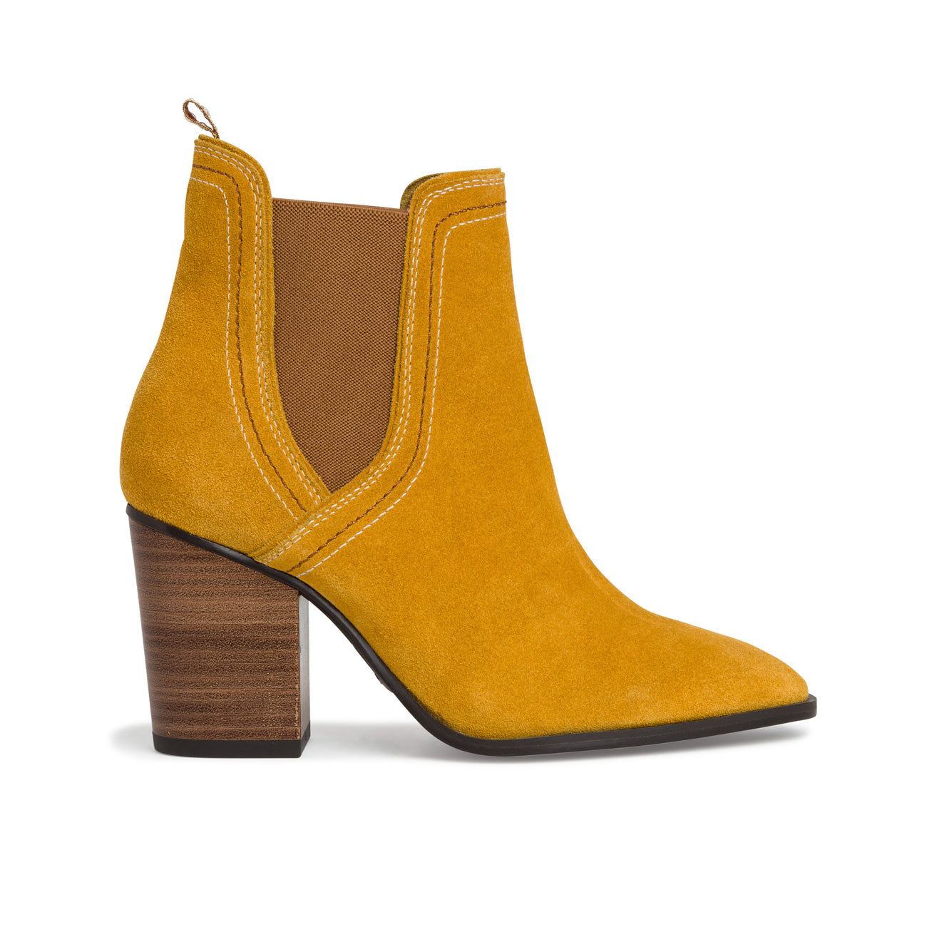 Tamaris Block Heel Ankle Boot | 25377 | Mustard