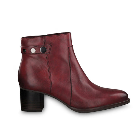 Tamaris Heeled Ankle Boot 25342 | Sangria
