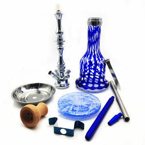 27.5'' inch New Creative Sea Blue Borosilicate Glass Smoking Hookah Shisha with a Set of Chisha Accessories For Christmas Day