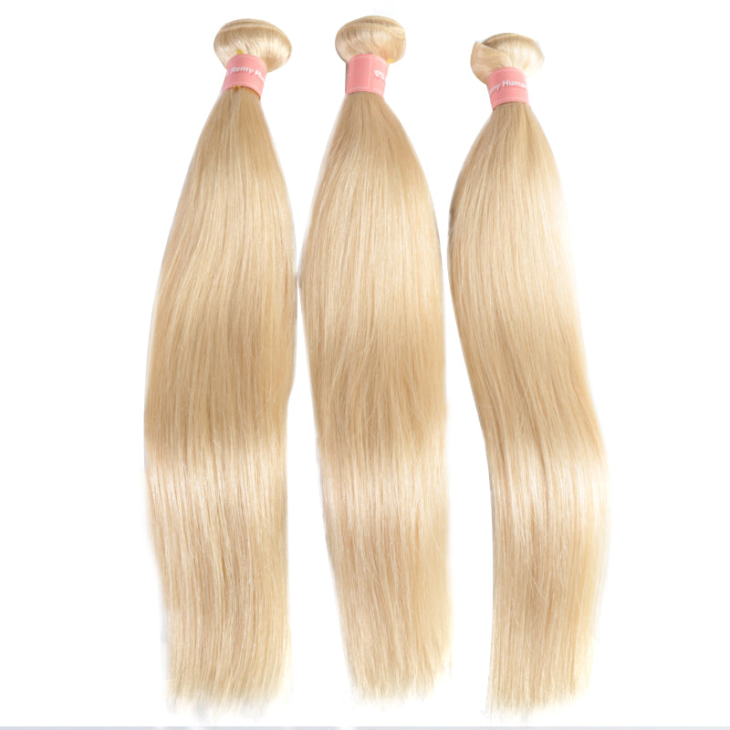 613 Blonde Hair Bundles Straight Human Hair Extension 16inch To 26inch Remy Brazilian Hair Weave Free Shipping