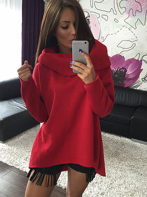 Christmas Clothes 2017 Women Winter Hoodies Scarf Collar Long Sleeve Fashion Casual Autumn Sweatshirts Rough Pullovers
