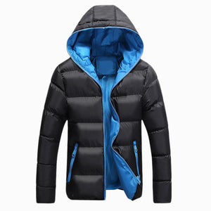 Men Winter Jacket Fashion Hooded Thermal Down Cotton Parkas Male Casual Hoodies Windbreaker Warm Coats 5XL,YA696
