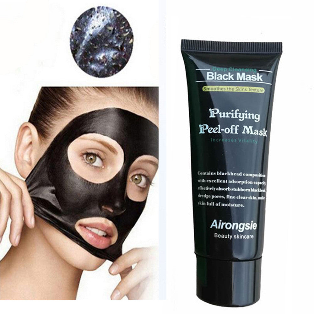 Black Mud Face Mask Deep Cleaning Peel Off Blackhead Remover Treatment Mask