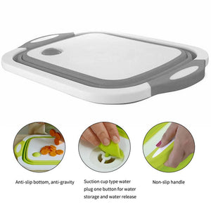 3 in 1 Collapsible Cutting Board Basket