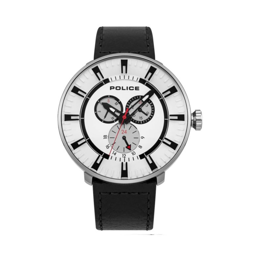 Police 15040XCY/01 Montre homme multifonctions bracelet cuir