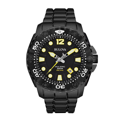Bulova 98B242 Sea-King UHF Montre à quartz homme sport coloris noir