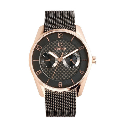 Obaku V171GMVBMB Montre homme à quartz coloris marron