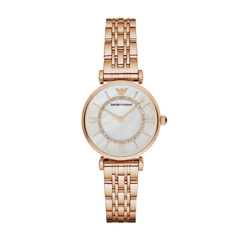 Emporio Armani AR1909 Gianni T-Bar Montre femme Or-rose