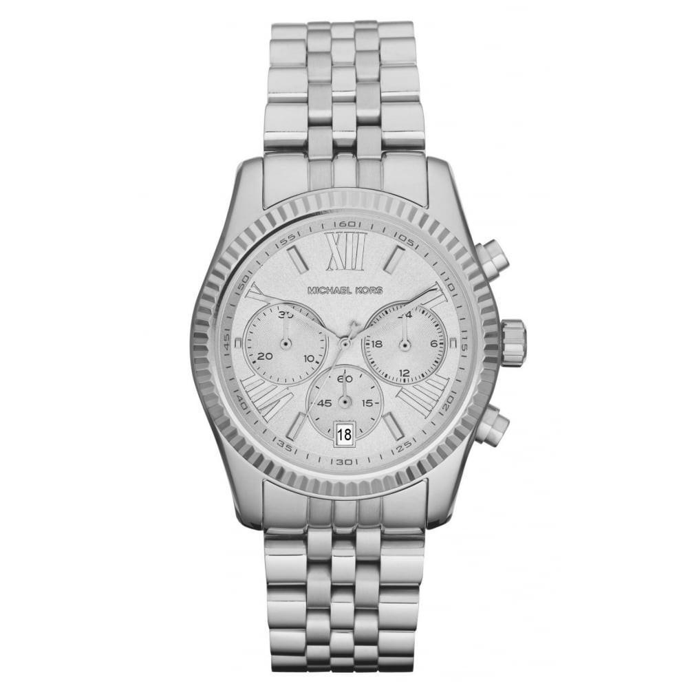 Michael Kors MK5555 Lexington Montre femme chronographe acier inoxydable