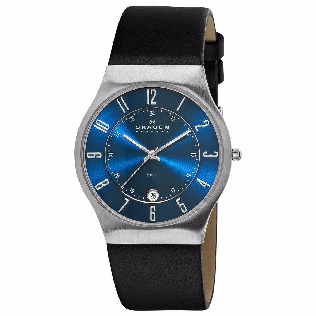 233xxlsln Skagen Men's Watch Leather Bleu Analogue Dial hsQCtrdx