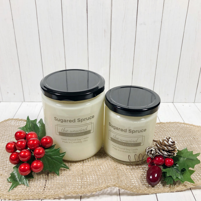 Sugared Spruce Soy Candle