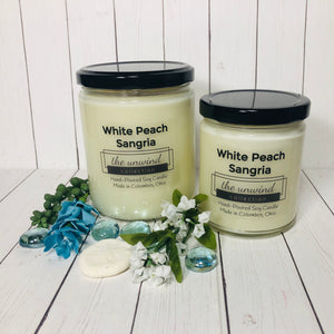 White Peach Sangria Soy Candle