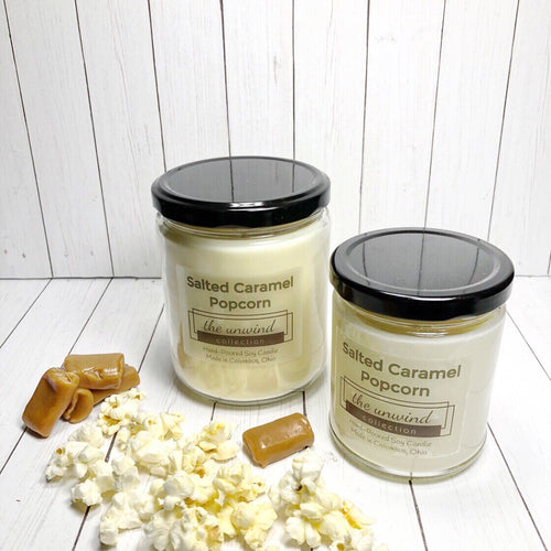 Salted Caramel Popcorn Soy Candle