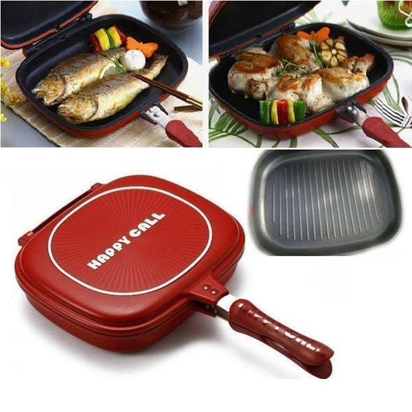 Double Sided Grill Frying Pan