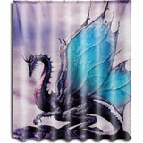 Medieval Purple Dragon Shower Curtain