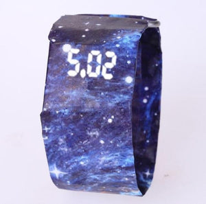 Newspaper LED Digital Watch