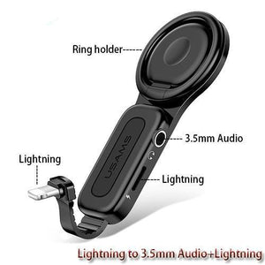 2 in 1 Lightning and Ring Adapter Pro