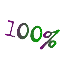 100% Guaranteed Satisfaction Guaranteed Symbol With Purple & Green Text In Black Circle Icon