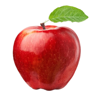Bright Red Rich Apple On White Background