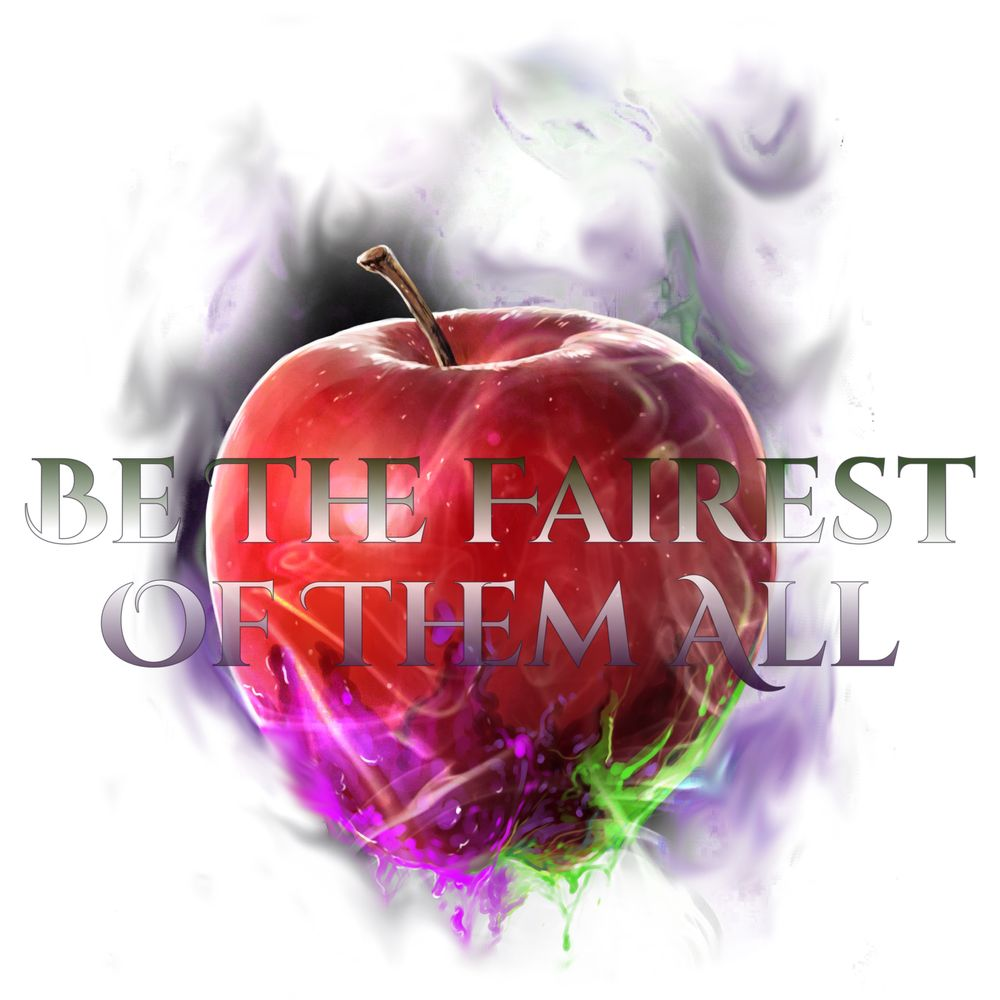 Naturally Wicked Apple With Purple & Green Vapour And Quote 'Be The Fairest Of Them All'