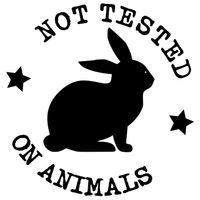 Not Tested On Animals - Black Bunny Rabbit In Circular Icon