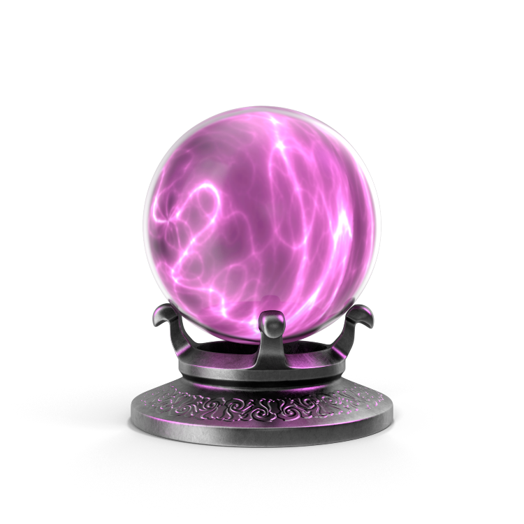 Naturally Wicked Crystal Ball With Purple Mist Inside