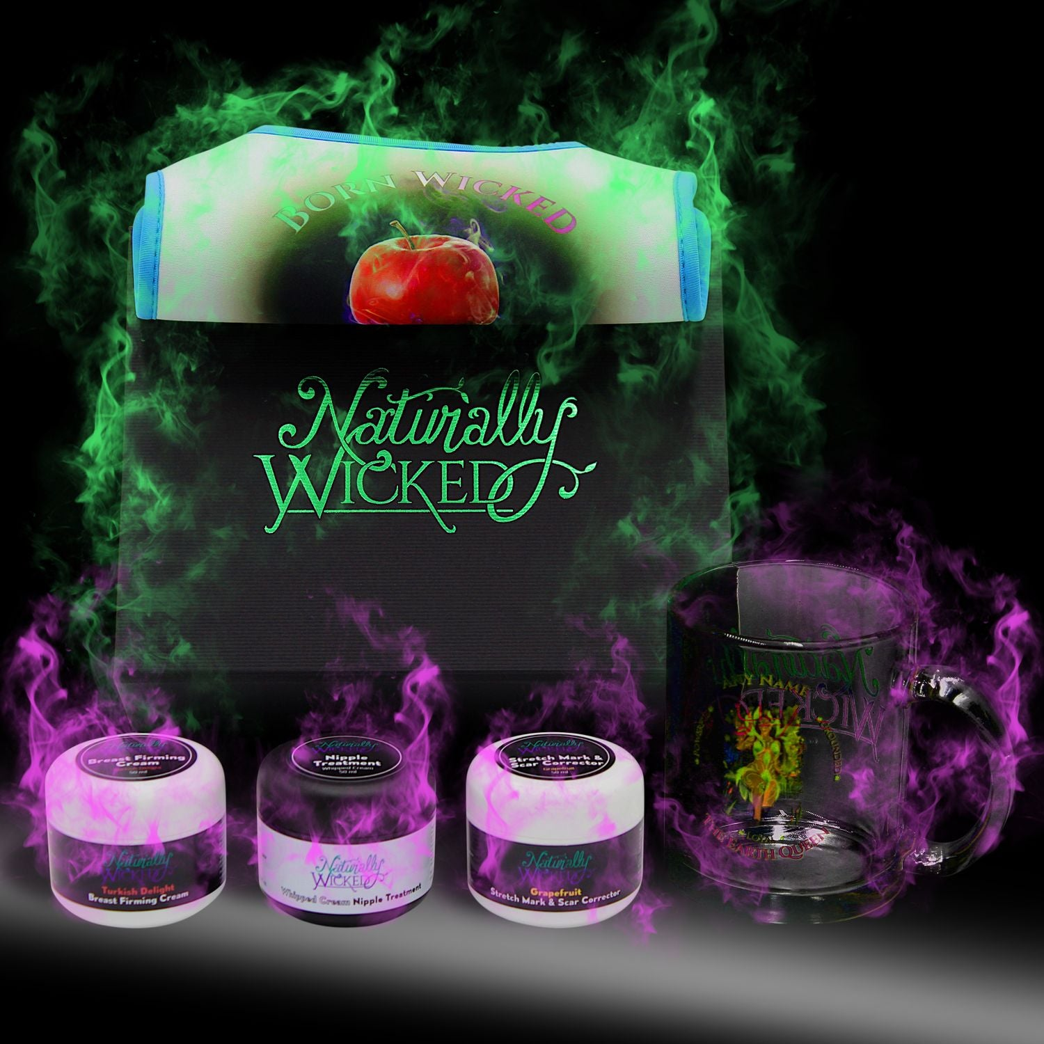 Naturally Wicked Deluxe Mamma Kit Surrounded By Mystery Purple & Green Smoke
