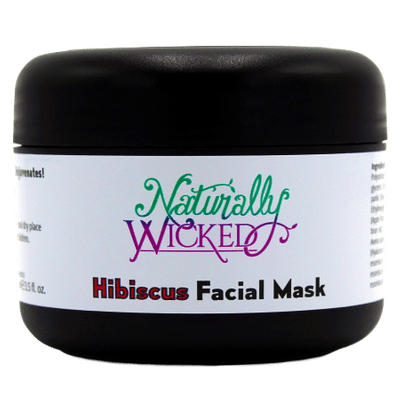 Naturally Wicked Hibiscus Hydrating Facial Mask On Black Background