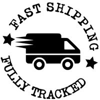 Fast Shipping & Fully Tracked - Black Courier Van In Circle Icon